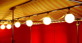 Marktschirm-Lampenkette
