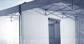 Zeltdach mit Verbindungskit