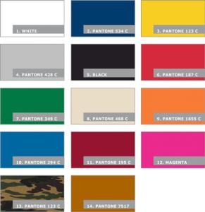 Farbpalette Klappzelt Mastertent